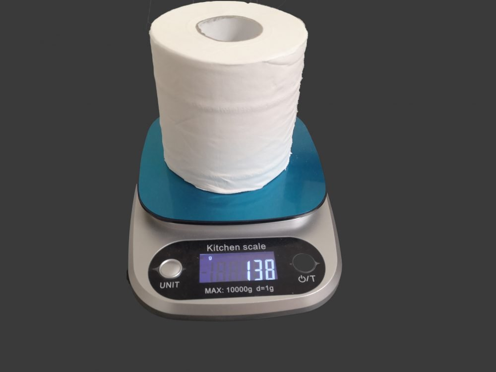 Weight of Toilet roll