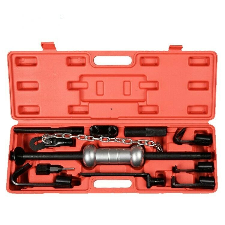 Top Quality 13 Piece Dent Puller Body Repair Garage Auto Tools Trucks 10lbs Slide Hammer Set
